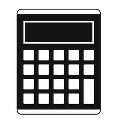 Office school electronic calculator icon vector