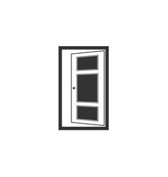 open door icon isolated flat design vector image