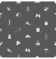 paint icons seamless gray and white pattern eps10 vector image