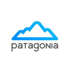 patagonia logo emblem for tour decoration vector image