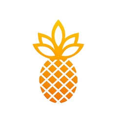 pineapple icon fruit abstract logo vector image
