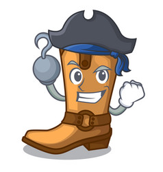 Pirate cowboy boots in the shape cartoon vector