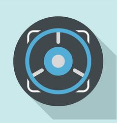 pistol gun aim icon flat style vector image