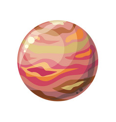Planet jupiter icon vector