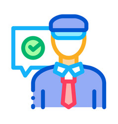 policeman access icon outline vector image