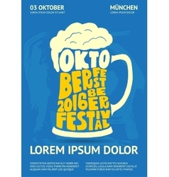 Poster for Oktoberfest Beer Festival vector
