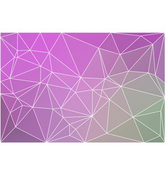 Purple green pink geometric background with mesh vector