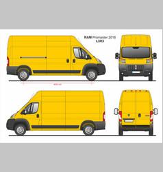 Ram promaster cargo delivery van l3h3 2018 vector