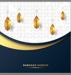 ramadan kareem islamic greeting card background vector image