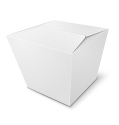 Realistic white paper box isolated on white vector