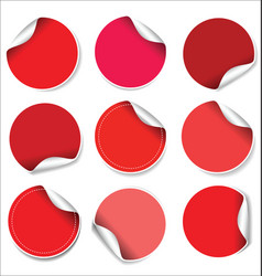 red stickers collection vector image