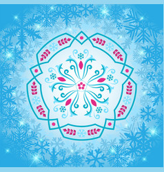 Rosemaling winter snowflake ornaments in vector