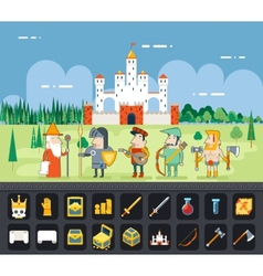 RPG Adventure Mobile Tablet PC Web Game Screen vector