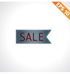 Sale tag on denim style - - EPS10 vector