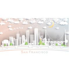 San francisco california usa city skyline vector