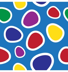 Seamless - colored oval shapes vector