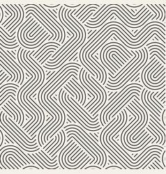 Seamless irregular linear grid pattern retro vector