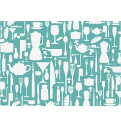 seamless pattern with cooking icons background vector image