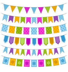 Set of colorful garland vector