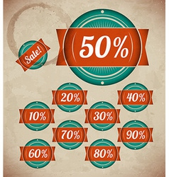 Set of retro sale labels vector image