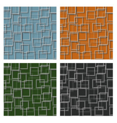 set of seamless squares pattern vector image