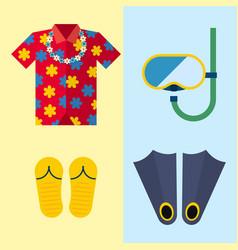 snorkeling or scuba fins or flippers underwater vector image