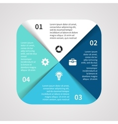 square infographic Template for cycle vector image