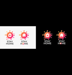 Stay home logo isolation icon for covid-19 virus vector