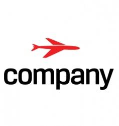 transportation air logo vector image