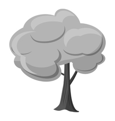 Tree icon gray monochrome style vector