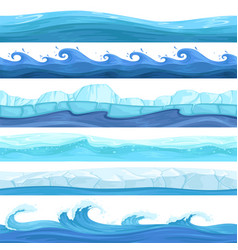 water game seamless surface liquid ocean river vector image