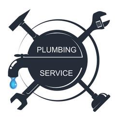 water tap and various repair tools vector image