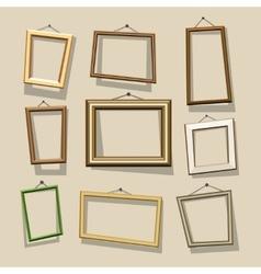 cartoon frames set vector image