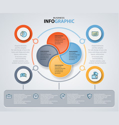 infographics web design marketing icons for vector image