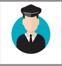 limo driver limousine driver icon vector image