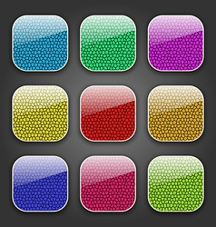 Backgrounds with leather texture for the app icons vector image
