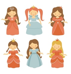 Beautiful princesses set vector image