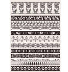 Big Set Of Decorative Border Lines vector image