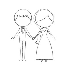 married couple avatar characters vector image