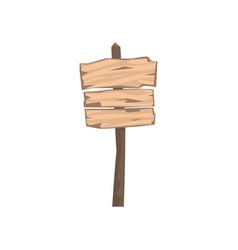 old wooden blank warning sign board vector image vector image