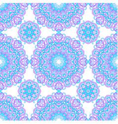 seamless pattern of round abstract mandalas vector image