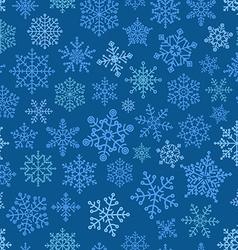 Snowflake seamless pattern Design template vector image