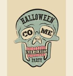 typographic retro grunge halloween poster vector image