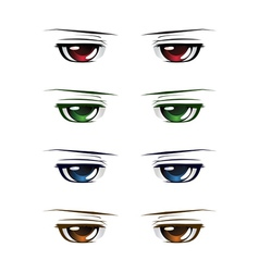Colorful male eyes vector image