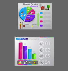 food infographic element health concept vector image vector image