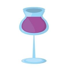 glass cup wine restaurant drink design vector image vector image
