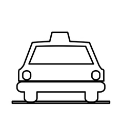 Isolated taxi silhouette design vector image