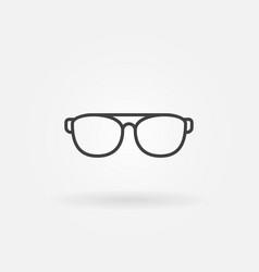 Sunglasses or glasses line icon or symbol vector