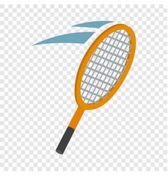 tennis racket isometric icon vector image