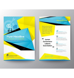 Abstract Triangle Brochure Flyer design Layout vector image vector image
